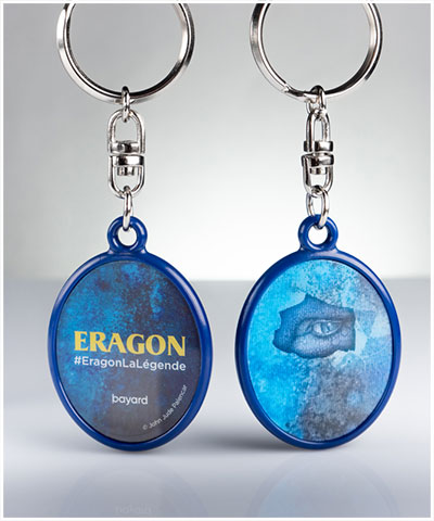 Keyrings with lenticular